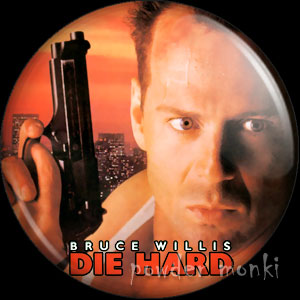 Die Hard - Retro Movie Badge/Magnet