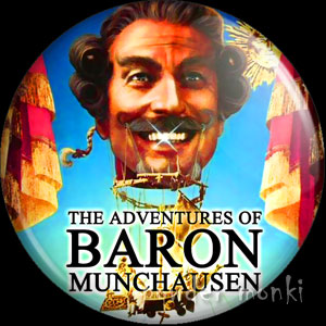 Adventures of Baron Munchausen - Retro Movie Badge/Magnet