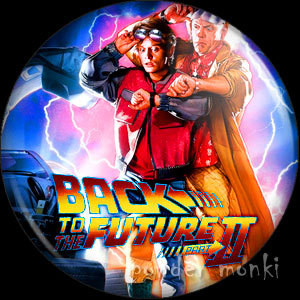 Back To The Future II - Retro Movie Badge/Magnet