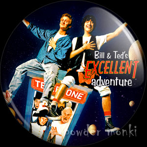 Bill and Ted's Excellent Adventure - Retro Movie Badge/Magnet
