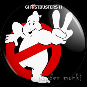 Ghostbusters II - Retro Movie Badge/Magnet