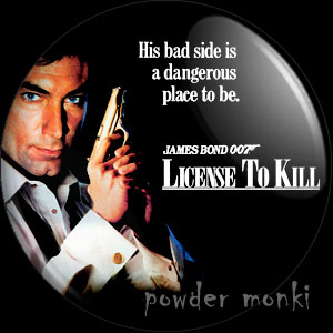 James Bond: License To Kill - Retro Movie Badge/Magnet