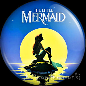 Little Mermaid - Retro Movie Badge/Magnet