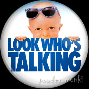 Look Who's Talking - Retro Movie Badge/Magnet