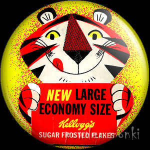 "Frosties ""Tony the Tiger"" - Retro Food Badge/Magnet"