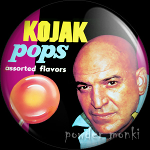 Kojak Pops - Retro Sweets Badge/Magnet
