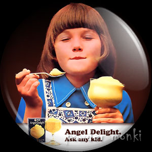 Angel Delight - Retro Food Badge/Magnet