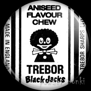 Black Jacks - Retro Sweets Badge/Magnet
