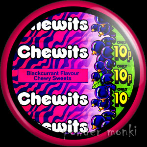 Chewits - Retro Sweets Badge/Magnet