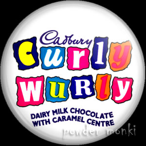 Curly Wurly - Retro Sweets Badge/Magnet