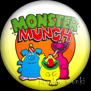 Monster Munch - Retro Sweets Badge/Magnet
