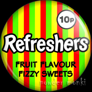 Refreshers - Retro Sweets Badge/Magnet