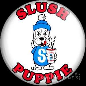 Slush Puppie - Retro Sweets Badge/Magnet