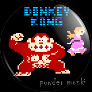 Donkey Kong - Retro Gamer Badge/Magnet