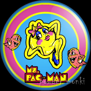 Ms.Pac-Man - Retro Gamer Badge/Magnet