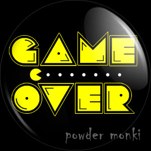 "Pac-Man ""Game Over"" - Retro Gamer Badge/Magnet"