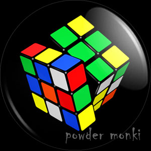Rubik's Cube - Retro Gamer Badge/Magnet