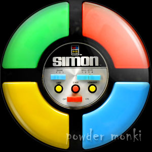 Simon Says - Retro Gamer Badge/Magnet