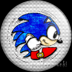 Sonic - Retro Gamer Badge/Magnet 1