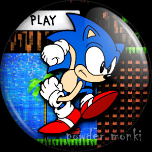 Sonic - Retro Gamer Badge/Magnet 2
