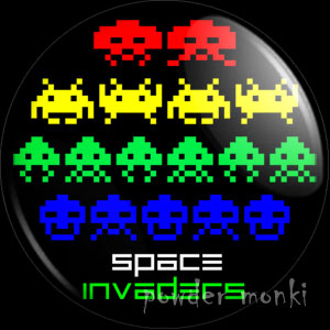 Space Invaders - Retro Gamer Badge/Magnet