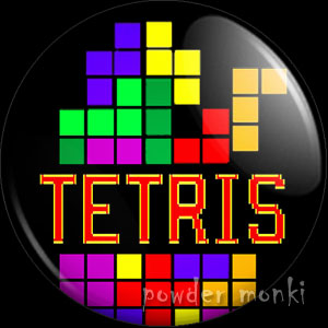 Tetris - Retro Gamer Badge/Magnet