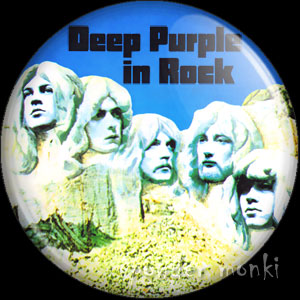 "Deep Purple ""Deep Purple in Rock"" - Retro Music Badge/Magnet"