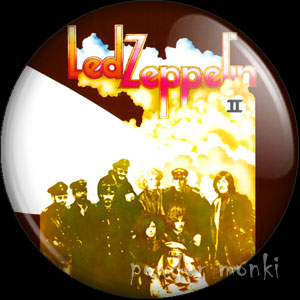 "Led Zeppelin ""Led Zeppelin II"" - Retro Music Badge/Magnet"
