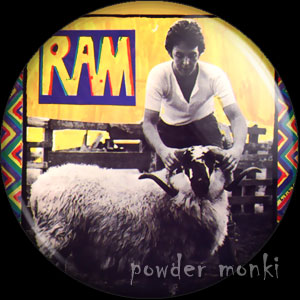"Paul & Linda McCartney ""Ram"" - Retro Music Badge/Magnet"