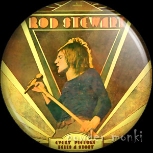 "Rod Stewart ""Every Picture Tells a Story"" - Retro Badge/Magnet"