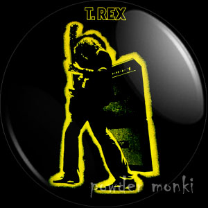 "T-Rex ""Electric Warrior"" - Retro Music Badge/Magnet"