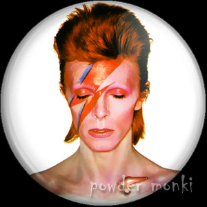 "David Bowie ""Aladdin Sane"" - Retro Music Badge/Magnet"