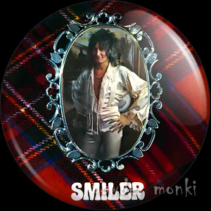 "Rod Stewart ""Smiler"" - Retro Music Badge/Magnet"