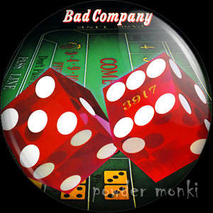 "Bad Company ""Straight Shooter"" - Retro Music Badge/Magnet"