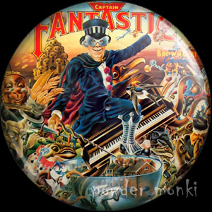 "Elton John ""Captain Fantastic"" - Retro Music Badge/Magnet"