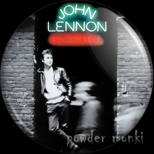 "John Lennon ""Rock 'n' Roll"" - Retro Music Badge/Magnet"