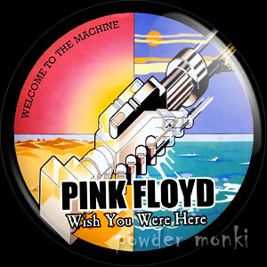 "Pink Floyd ""Wish You Were Here"" - Retro Music Badge/Magnet"