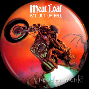 "Meat Loaf ""Bat Out of Hell"" - Retro Music Badge/Magnet"
