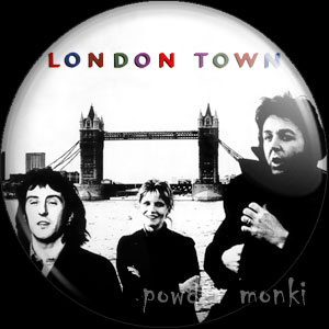 "Wings ""London Town"" - Retro Music Badge/Magnet"