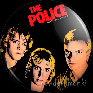 "Police ""Outlandos d'Amour"" - Retro Music Badge/Magnet"
