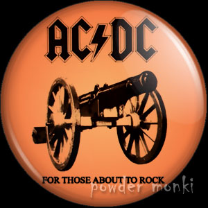 "AC/DC ""For Those About to Rock"" - Retro Music Badge/Magnet"