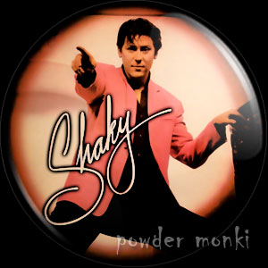 "Shakin' Stevens ""Shaky"" - Retro Music Badge/Magnet"