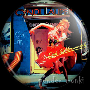 "Cyndi Lauper ""She's So Unusual"" - Retro Music Badge/Magnet"