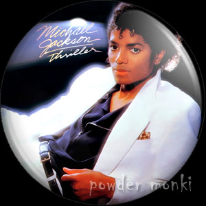 "Michael Jackson ""Thriller"" - Retro Music Badge/Magnet"