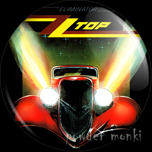 "ZZ Top ""Eliminator"" - Retro Music Badge/Magnet"
