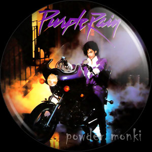 "Prince ""Purple Rain"" - Retro Music Badge/Magnet"