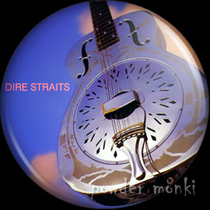 "Dire Straits ""Brothers In Arms"" - Retro Music Badge/Magnet"