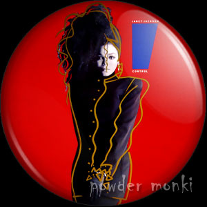 "Janet Jackson ""Control"" - Album Cover Badge/Magnet"