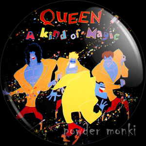"Queen ""A Kind Of Magic"" - Retro Music Badge/Magnet"