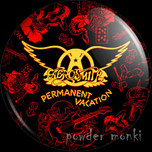 "Aerosmith ""Permanent Vacation"" - Retro Music Badge/Magnet"